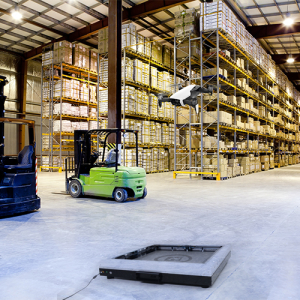 drone charging pad for warehouse management